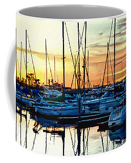Impressions Of A San Diego Marina Coffee Mug by Glenn McCarthy Art and Photography