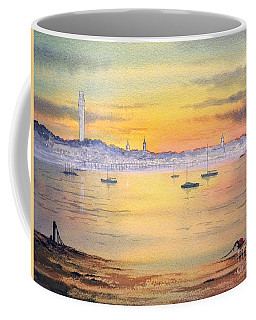 Coffee Mug featuring the painting Impressions Of Provincetown by Bill Holkham