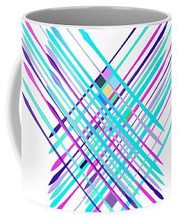 Coffee Mug featuring the digital art Improvised Geometry #2 by Bee-Bee Deigner