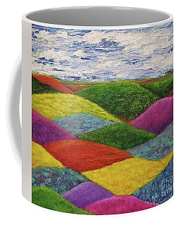 Coffee Mug featuring the painting In A Land Far, Far Away by Jane Chesnut