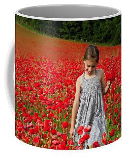 In A Sea Of Poppies Coffee Mug