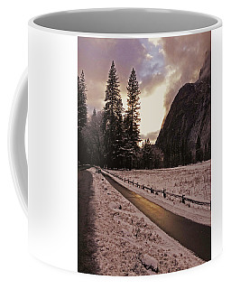 In Between Snow Falls Coffee Mug by Walter Fahmy