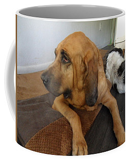 In Deep Thought Coffee Mug by Val Oconnor