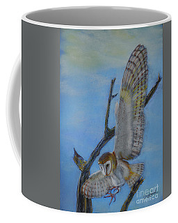 In Flight Barn Owl Coffee Mug
