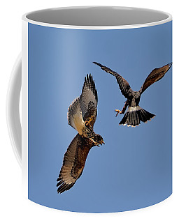 Coffee Mug featuring the photograph In Flight Challenge H43 by Mark Myhaver