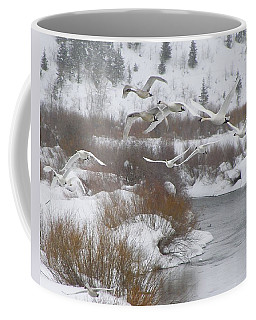 Coffee Mug featuring the photograph In Flight by DeeLon Merritt