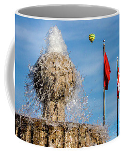 In Flight Over Flags Coffee Mug