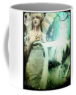 Coffee Mug featuring the digital art In Her Dreams She Could Fly Unfettered by Delight Worthyn
