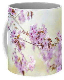 Coffee Mug featuring the photograph In Tender Bloom. Spring Watercolors by Jenny Rainbow