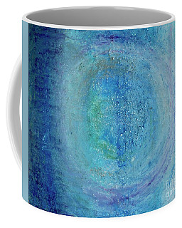Coffee Mug featuring the painting In The Beginning, Cosmic by Kim Nelson