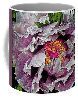 Coffee Mug featuring the photograph In The Eye Of The Peony by Chris Lord
