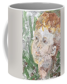 Coffee Mug featuring the pastel In The Eyes Of A Child by Norma Duch