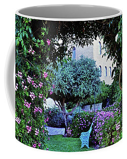 In The Garden At Mount Zion Hotel  Coffee Mug