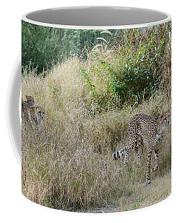 Coffee Mug featuring the photograph In The Lead by Fraida Gutovich