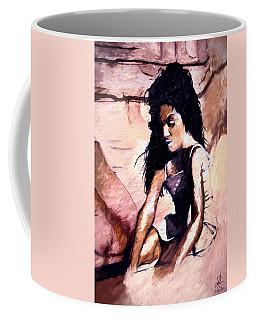Coffee Mug featuring the digital art In The Sand by Pennie  McCracken