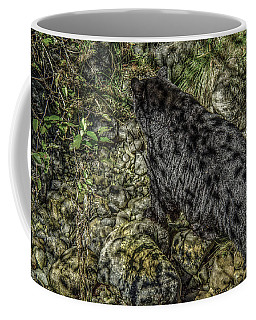In The Shadows Black Bear Coffee Mug