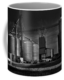 In The Still- Black And White Coffee Mug