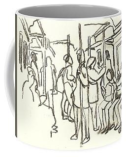 In The Subway, Nyc Coffee Mug