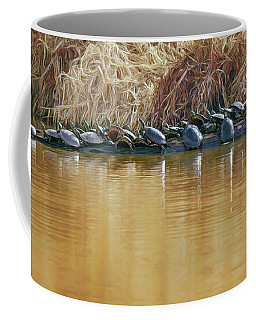 Coffee Mug featuring the photograph In The Sun - Turtles by Nikolyn McDonald