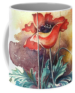 Coffee Mug featuring the painting In The Turquoise Coat by Anna Ewa Miarczynska