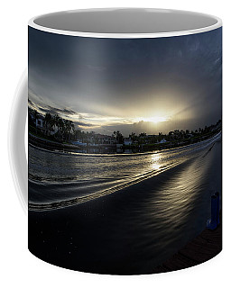 Coffee Mug featuring the photograph In The Wake Zone by Laura Fasulo