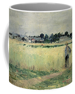In The Wheatfield At Gennevilliers Coffee Mug
