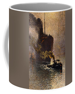 In Tow On The Thames In The Fog Coffee Mug