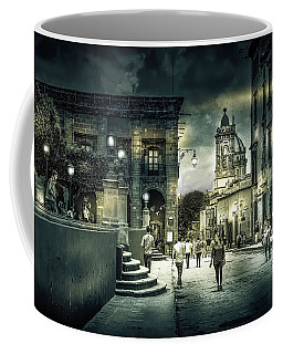 In Town Black And White Coffee Mug
