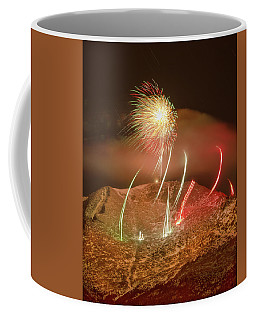 Inaugurating The New Year The Colorado Style At 14115 Feet, 4302 Meters, Above Sea Level Coffee Mug by Bijan Pirnia