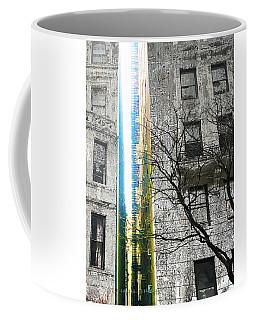 Coffee Mug featuring the mixed media Inbetween  by Tony Rubino
