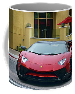 Coffee Mug featuring the photograph Inbound Lambo by Bill Dutting