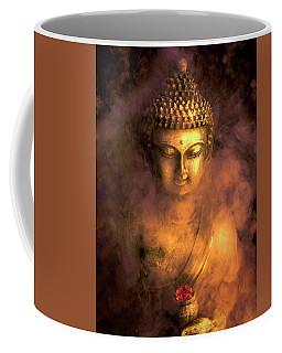 Coffee Mug featuring the photograph Incense Buddha by Daniel Hagerman