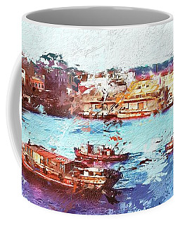 Coffee Mug featuring the digital art Inchon Harbor by Dale Stillman