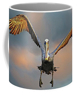 Incoming II, California Brown Pelican Coffee Mug