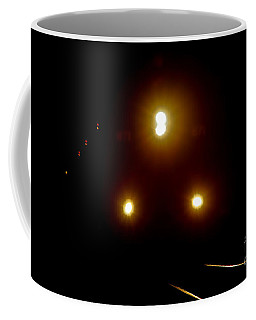 Coffee Mug featuring the photograph Incoming Train by Mariola Bitner