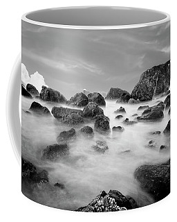 Indian Beach, Ecola State Park, Oregon, In Black And White Coffee Mug