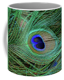 Indian Blue Peacock Macro Coffee Mug