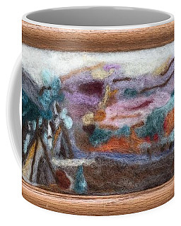 Indian Camp Coffee Mug by Christine Lathrop