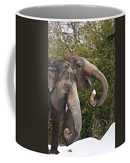 Indian Elephants Eating Snow Coffee Mug