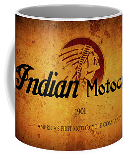 Indian Motocycle 1901 - America's First Motorcycle Company Coffee Mug