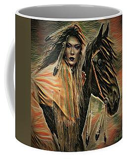 American Indian On Horse Coffee Mug