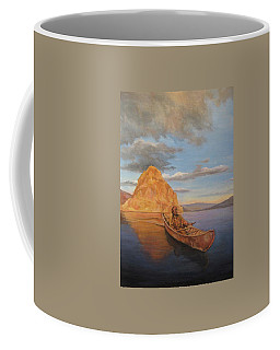Indian On Lake Pyramid Coffee Mug
