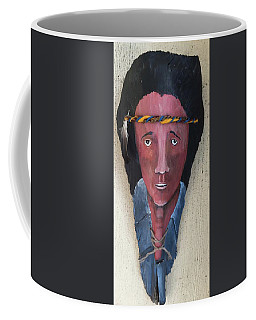 Indian On Palm 2 Coffee Mug by Christine Lathrop