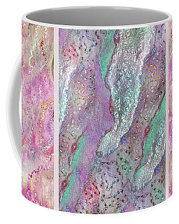 Indian Pink Pearls Triptych  Coffee Mug