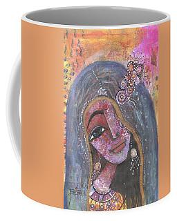 Indian Rajasthani Woman With Colorful Background  Coffee Mug