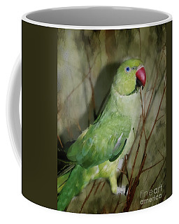 Indian Ringneck Parrot Coffee Mug