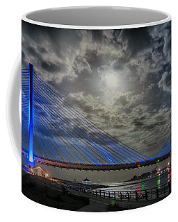 Indian River Bridge Moonlight Panorama Coffee Mug