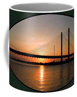 Indian River Bridge Sunset Reflections Coffee Mug