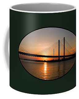 Indian River Bridge Sunset Reflections Coffee Mug
