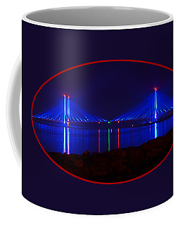 Indian River Inlet Bridge After Dark Coffee Mug